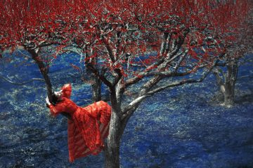 Erik MADIGAN HECK (*1983, United States): Fendi in Apple Orchard, The Garden – Christophe Guye Galerie